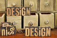 design concept in wood type