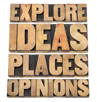 explore ideas places opinions