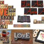 Love , romance and Happy Valentine's Day in royalty free images